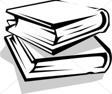388x326 Library Clipart Stacked Book