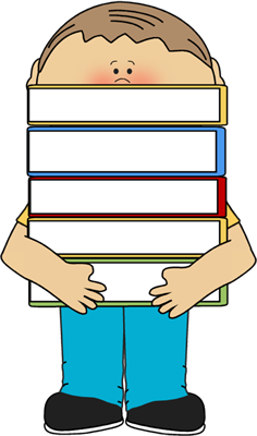 236x400 Boy Carrying Books Clip Art