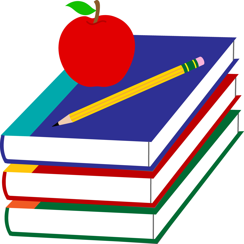 4461x4450 Library Books Clip Art