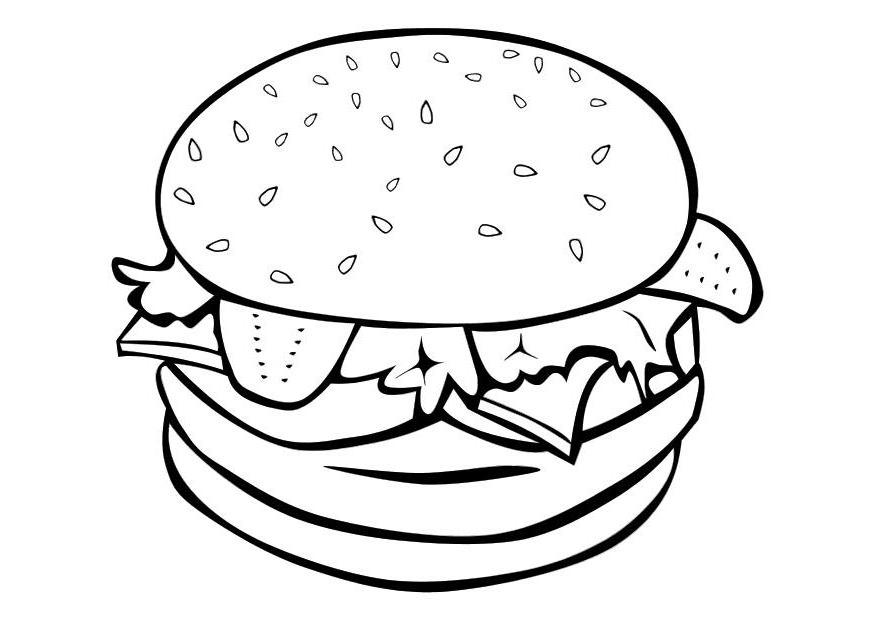 875x620 Clip Art Food Coloring Page Image Clipart Images