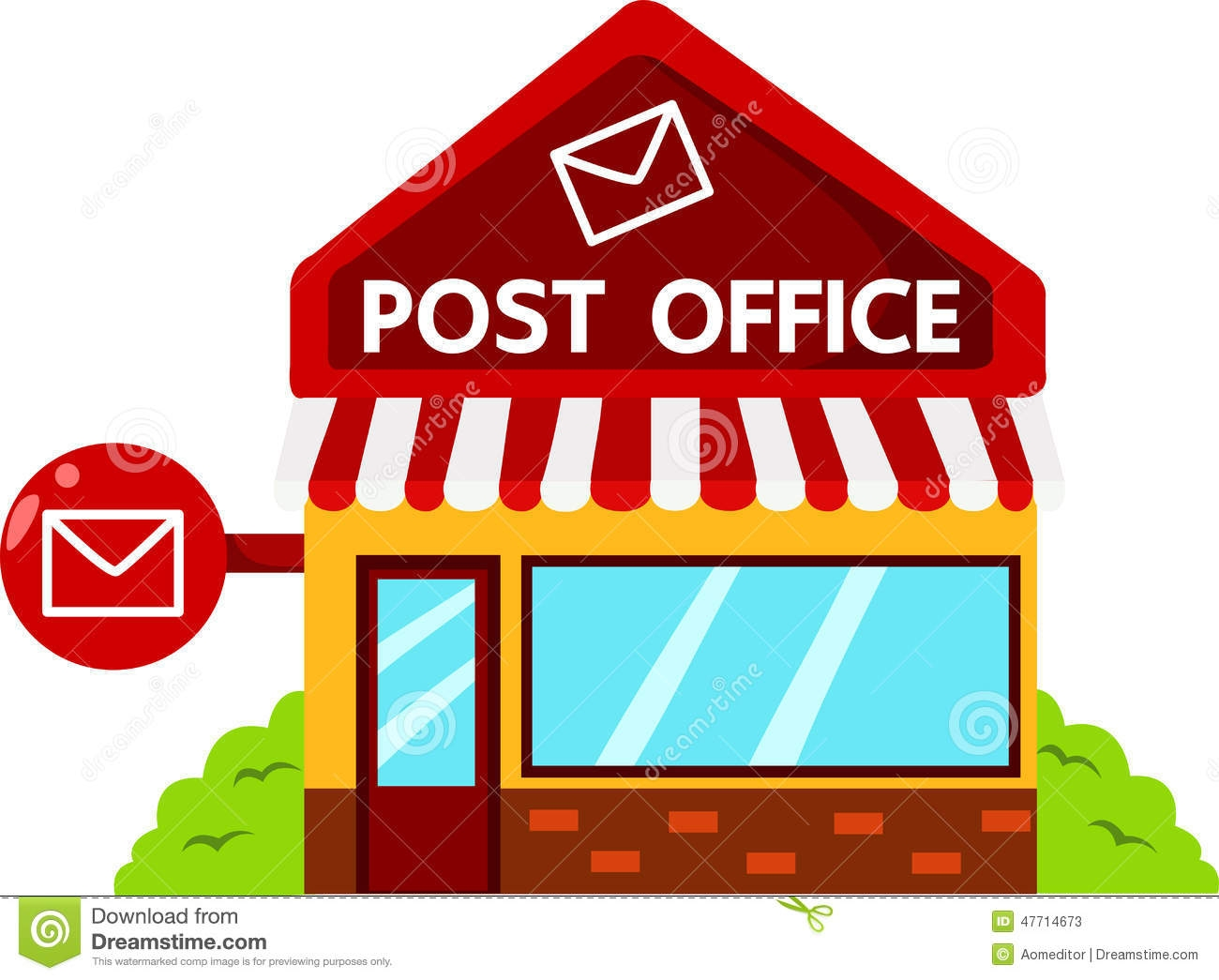 1300x1045 Post Office Clipart