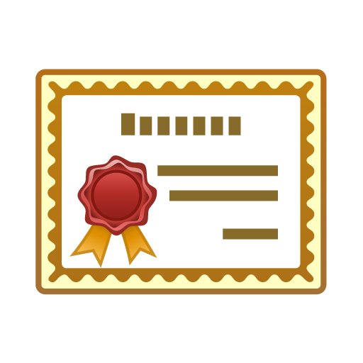 512x512 Certificate Clipart Free