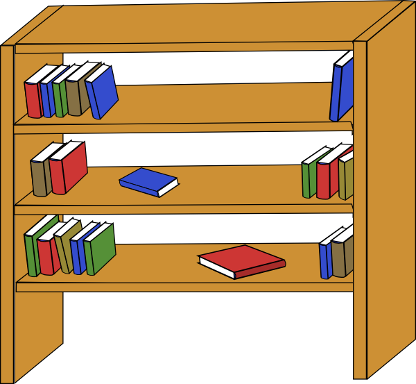 600x553 Bookcase Clipart Library Card 2566683