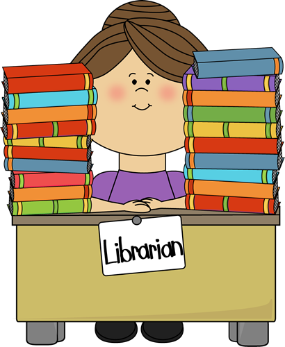 410x500 Bookcase Clipart Library Card