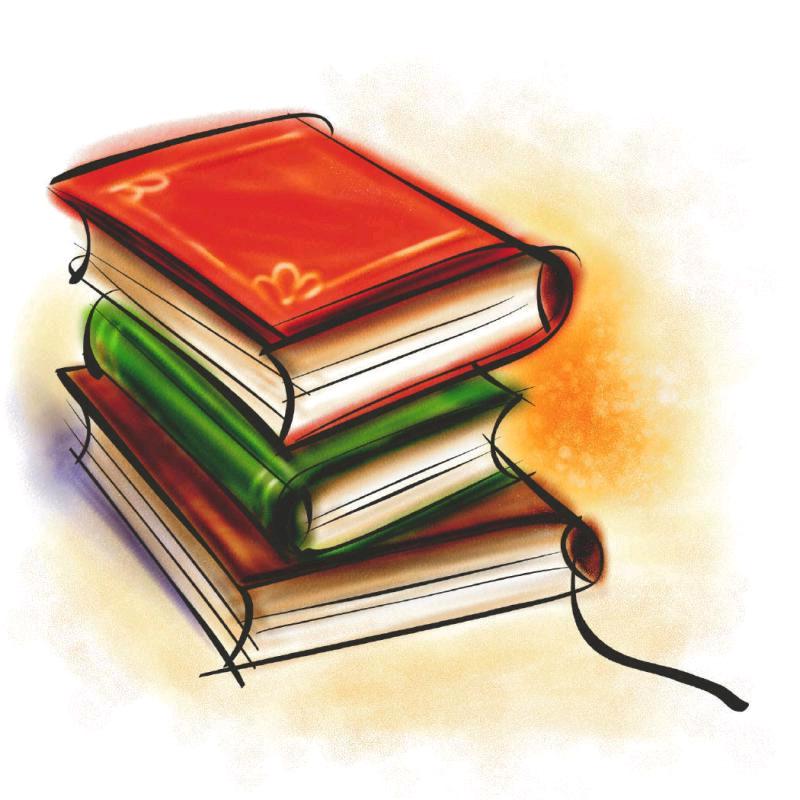 800x800 Library Books Clip Art