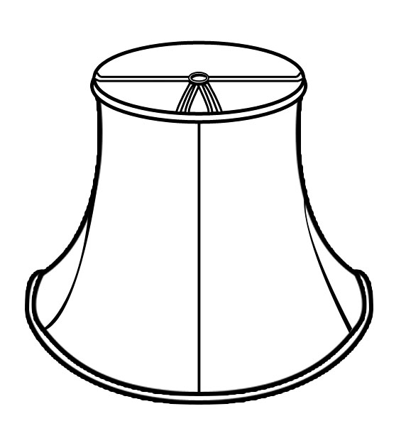572x624 Lampshade Clipart