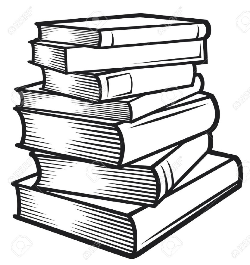 830x881 Library Clipart Book Stack