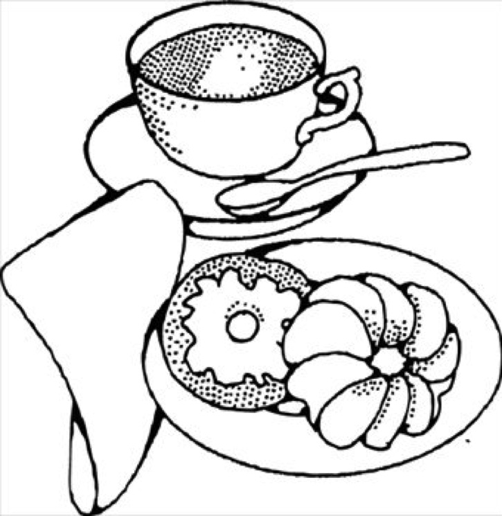 725x745 Bagel Clipart Black And White