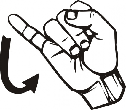 425x374 Sign Language Clipart Many Interesting Cliparts