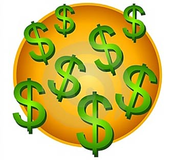 350x312 Dollar Signs Clip Art
