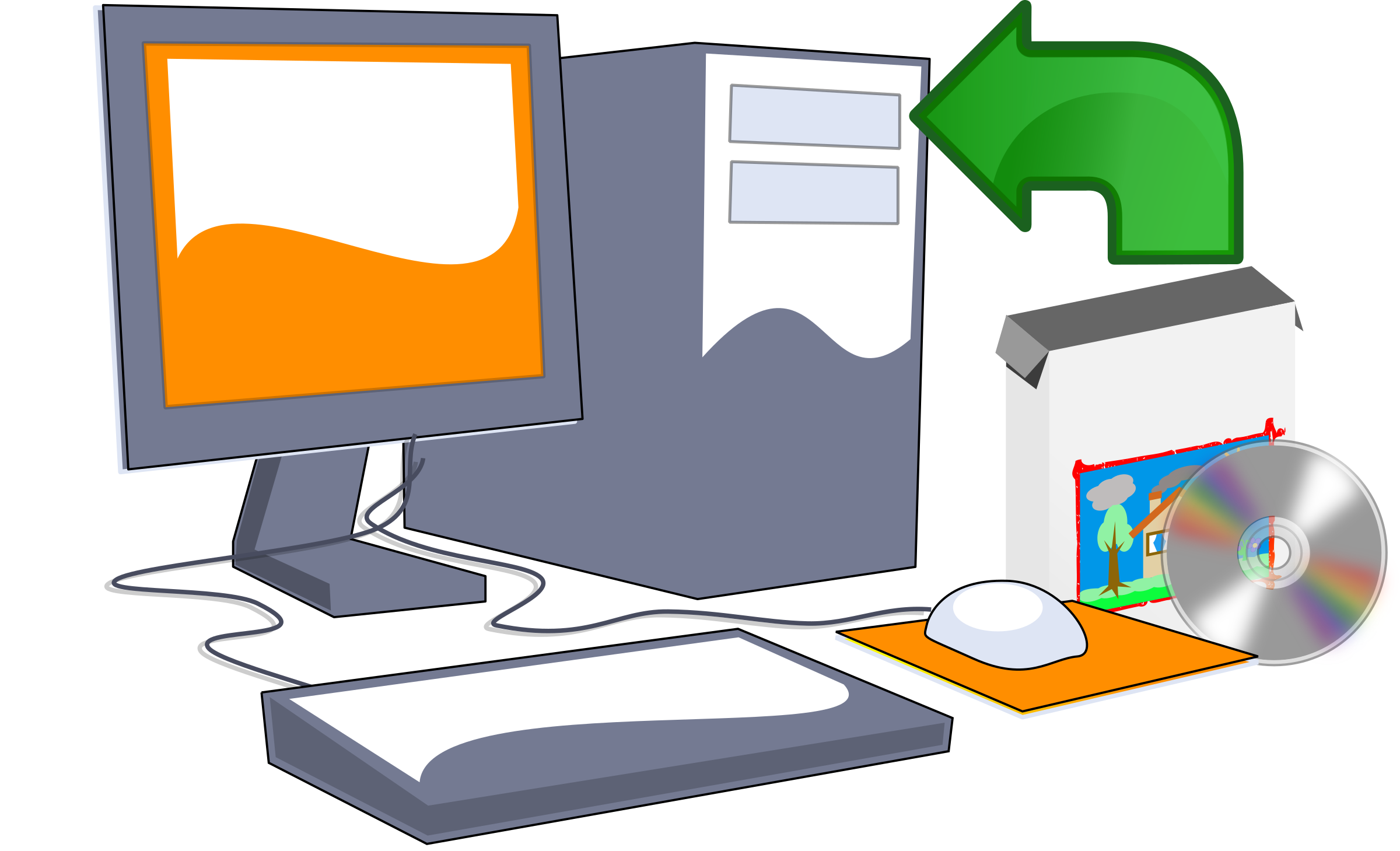 2400x1459 Computer Clipart Computer Software