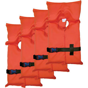 300x300 4pcs Life Jacket Vest Rescue Floater Women Men Stearns Adult Over