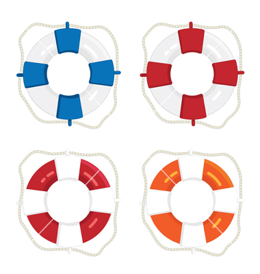 380x400 Life Preserver Ring Clipart