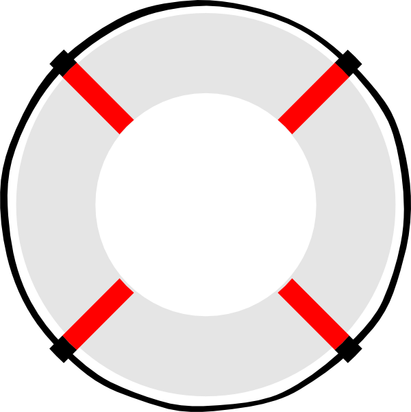 600x601 Life Ring Mostly White Clip Art