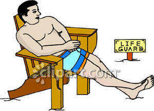300x216 Clipart Picture Of A Lifeguard Sitting In His Chair