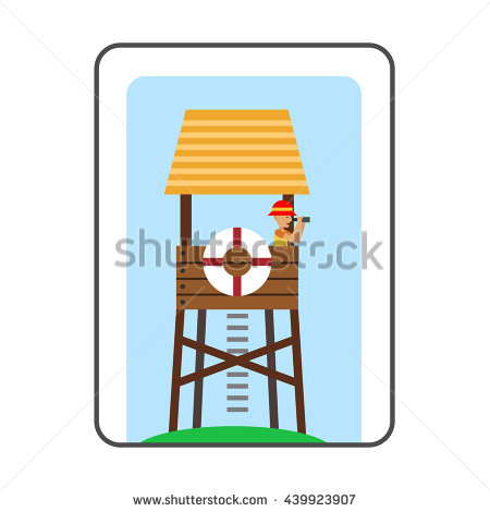 450x470 Floating Clipart Lifeguard Chair