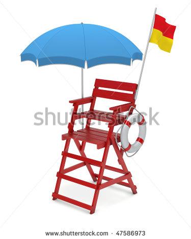 375x470 Lifeguard Chair Clipart