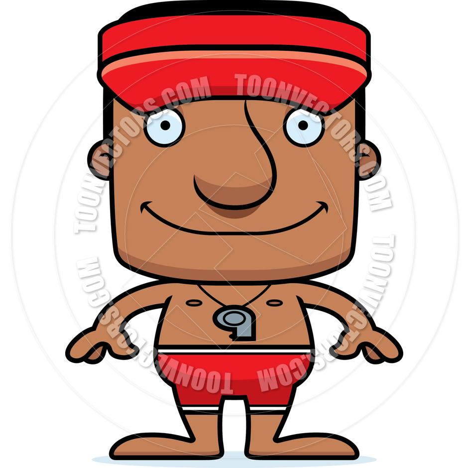 940x940 Cartoon Smiling Lifeguard Man By Cory Thoman Toon Vectors Eps