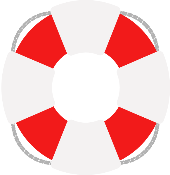 582x598 Lifesaver Red And Grey Clip Art