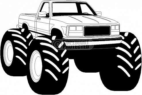494x331 Dodge Clipart Lifted Truck