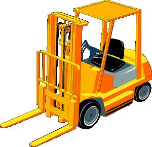 300x290 Forklift Clip Art