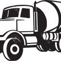 125x125 Free Truck Clipart Vector Image