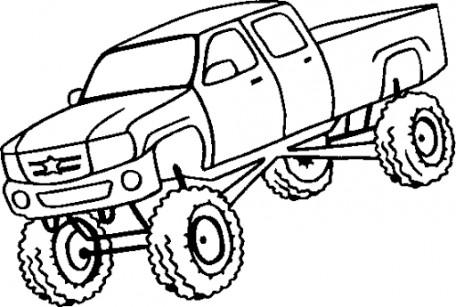 456x307 Truck Mudding Clipart