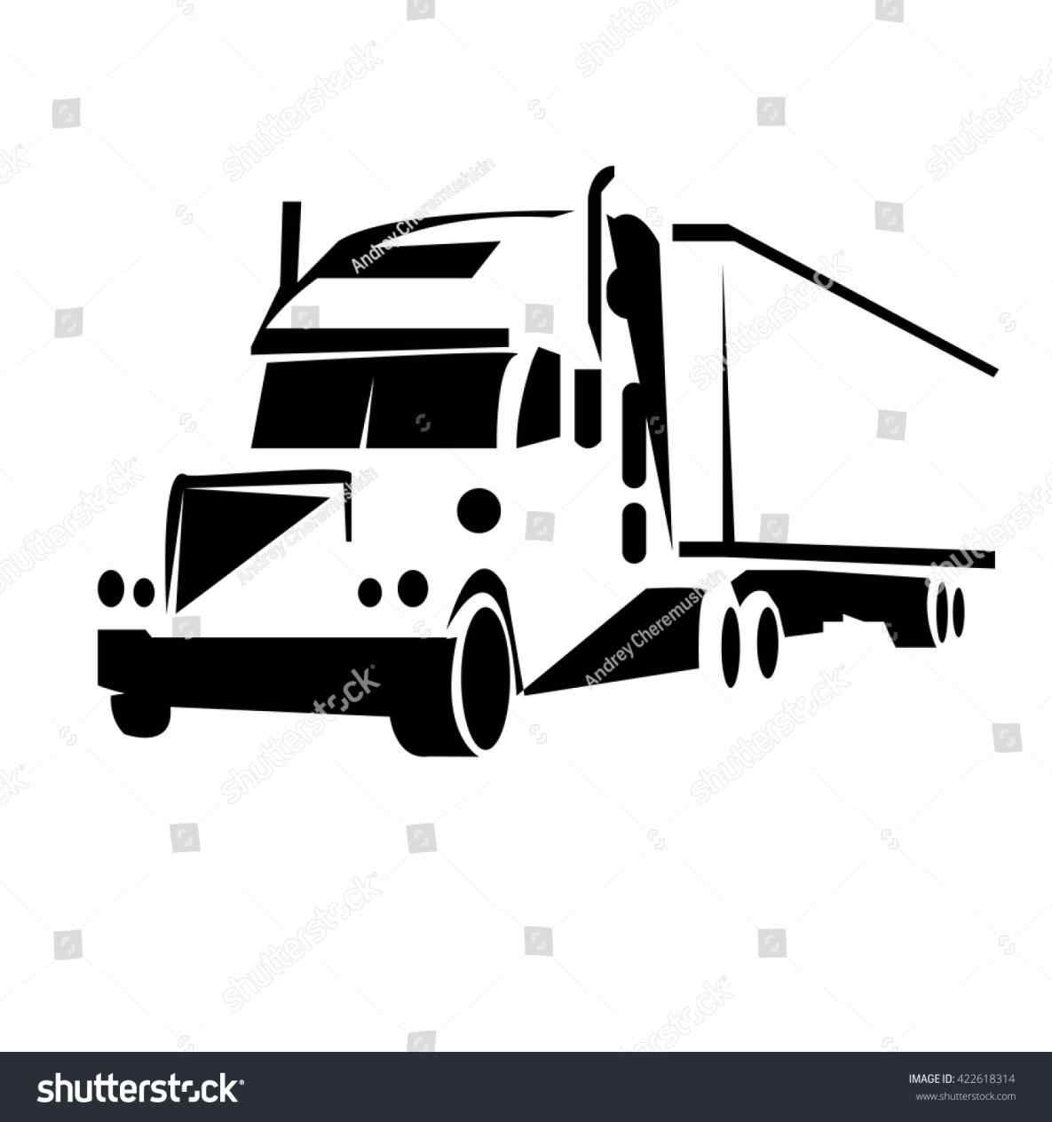 1185x1264 Flat Bed Truck Vector
