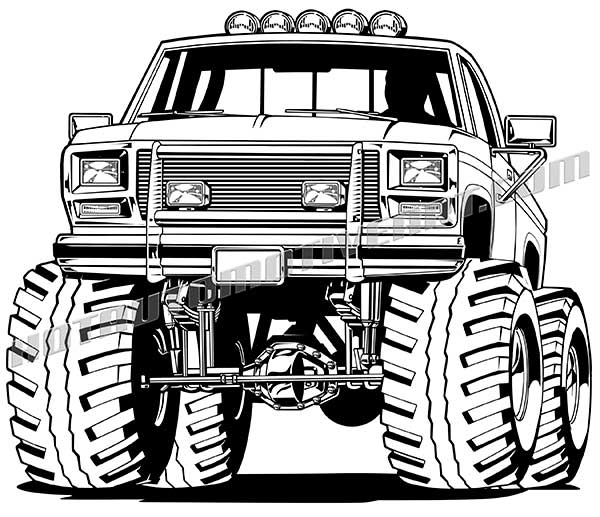 600x517 Ford F 150 Lifted Off Road Truck Vector Clipart