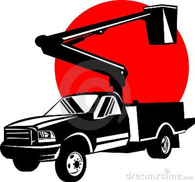 400x373 Bucket Truck Clipart