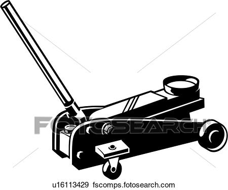 450x374 Clip Art Of , Auto Lift, Jack, Tool, U16113429