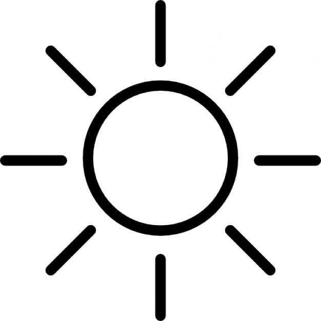 626x626 Light Beam, Sun Outline Icons Free Download
