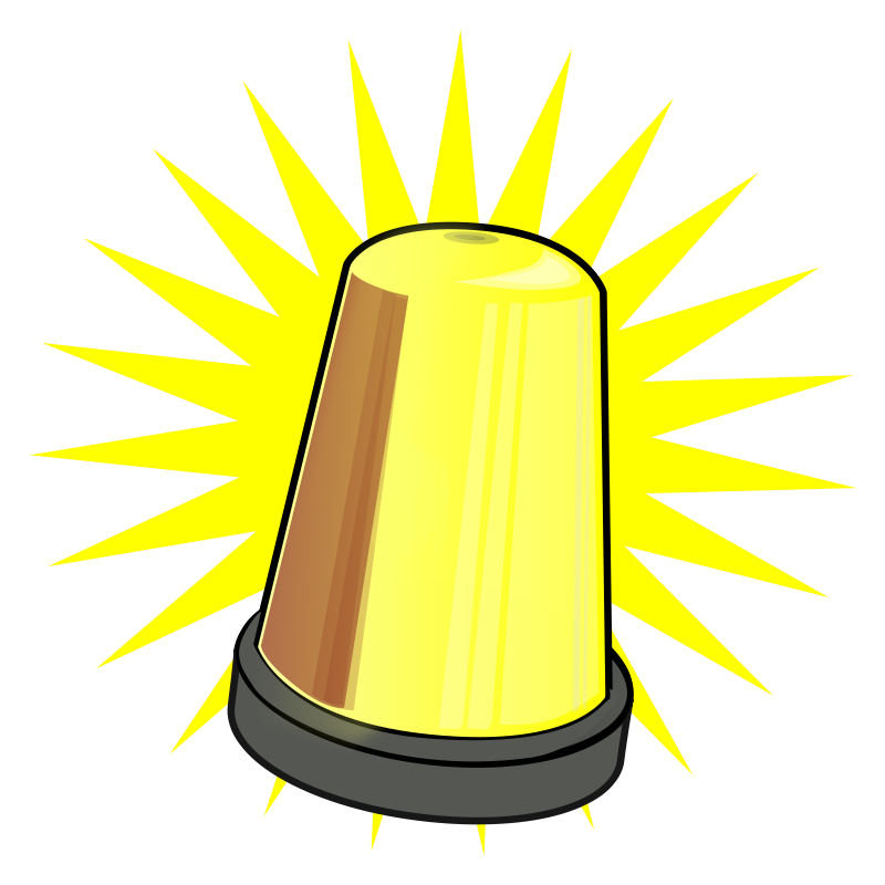 800x800 Warning Light Clipart