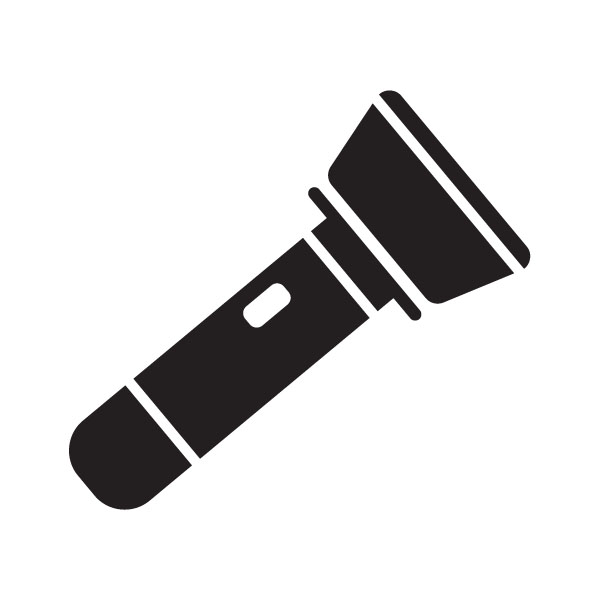 600x600 Flashlight Clipart