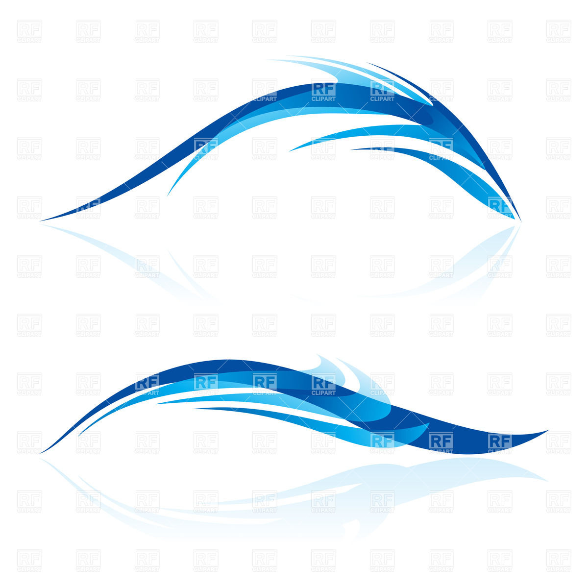 1200x1200 Blue Fish Like Design Elements