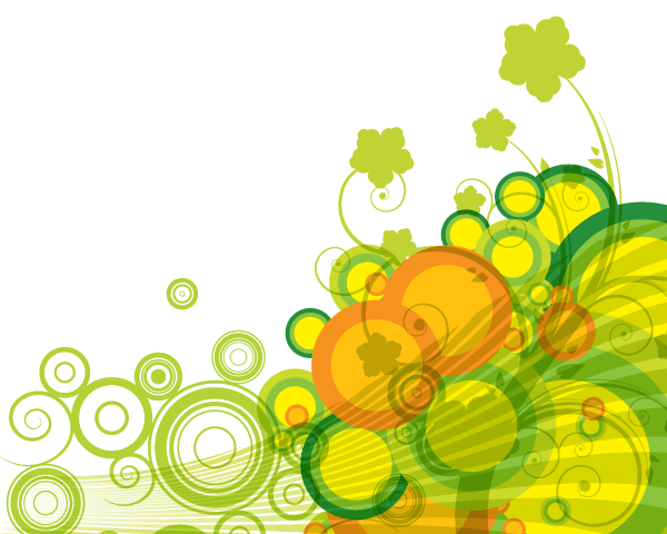 600x480 Abstract Green Bubbles Vector Background 123freevectors