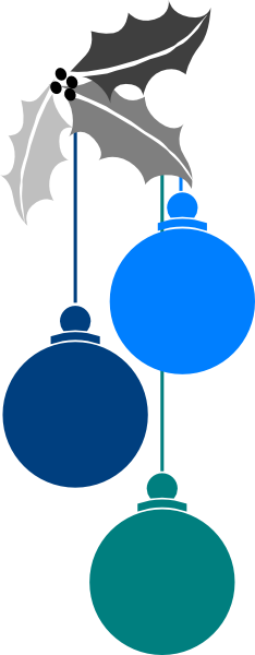234x600 Light Clipart Blue Christmas