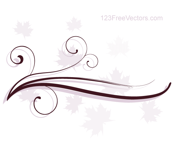 600x500 Abstract Swirl Floral Vector Background 123freevectors