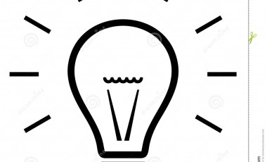 380x230 Light Bulb Clip Art Black And White Tips Home Design