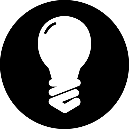 500x500 Traditional Light Bulb Icon In Black Circle Vector Image Public