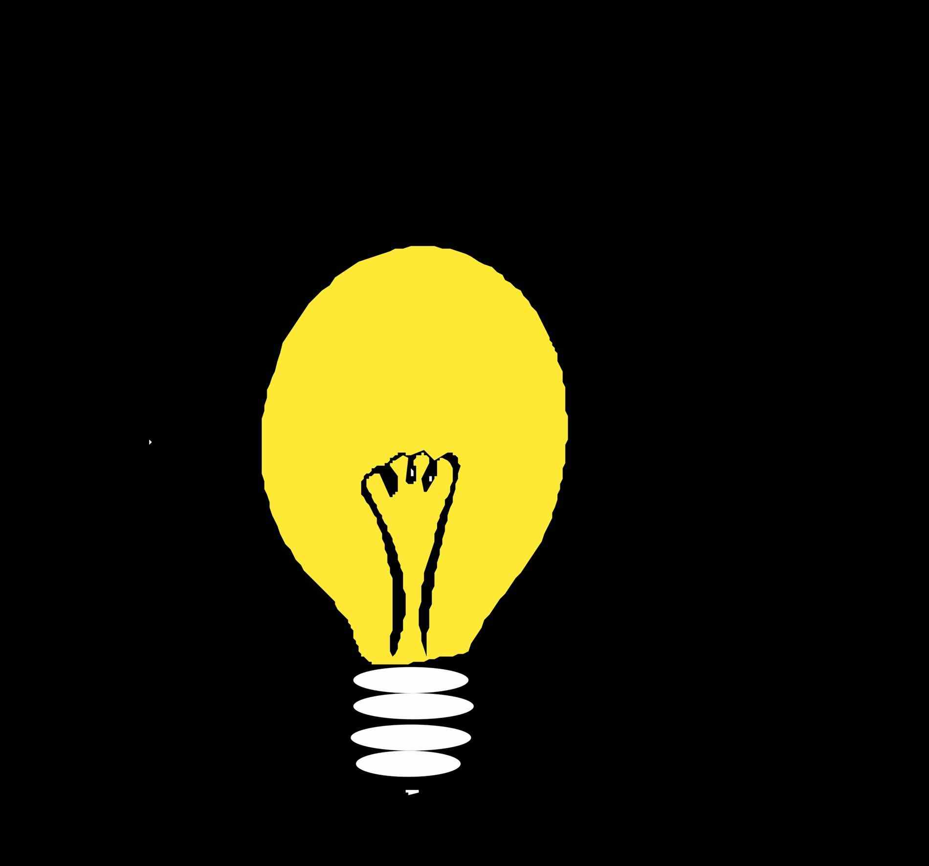 1900x1772 Lightbulb Clipart Black And White