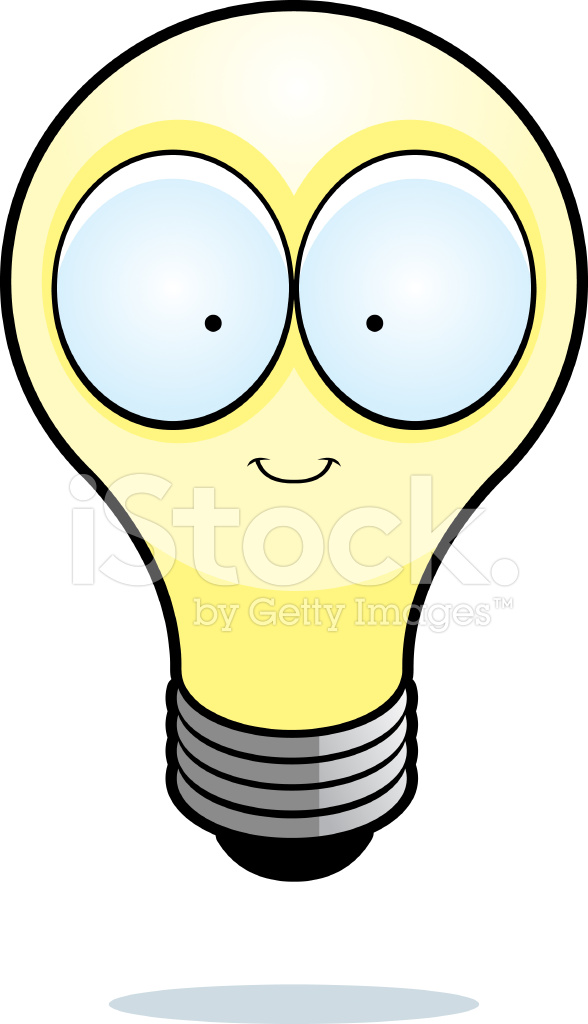 588x1024 Cartoon Light Bulb Stock Vector