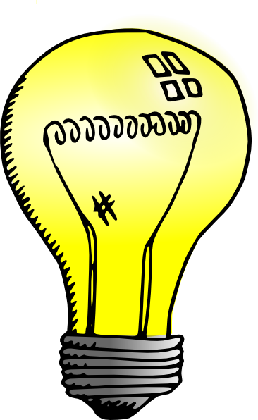 366x596 Incandescent Light Bulb Clip Art Free Vector 4vector