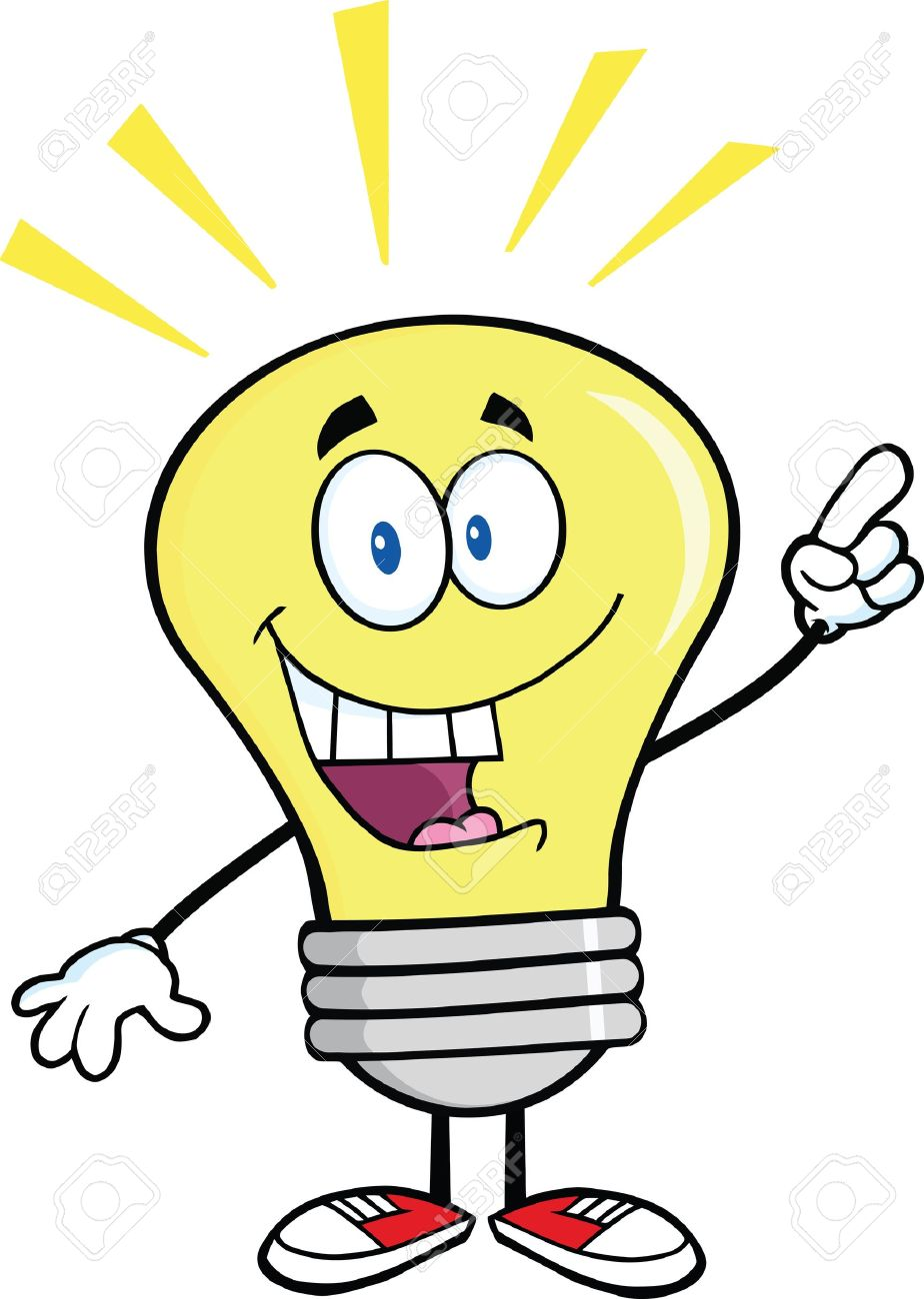 924x1300 Light Bulb Cartoon Character With A Bright Idea Royalty Free
