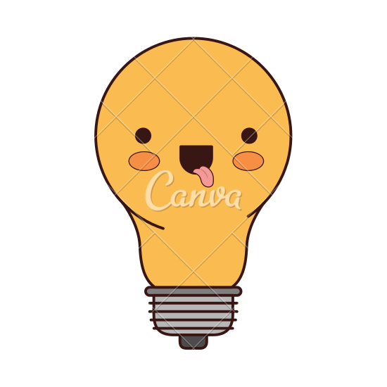 550x550 Light Bulb Cartoon Icon