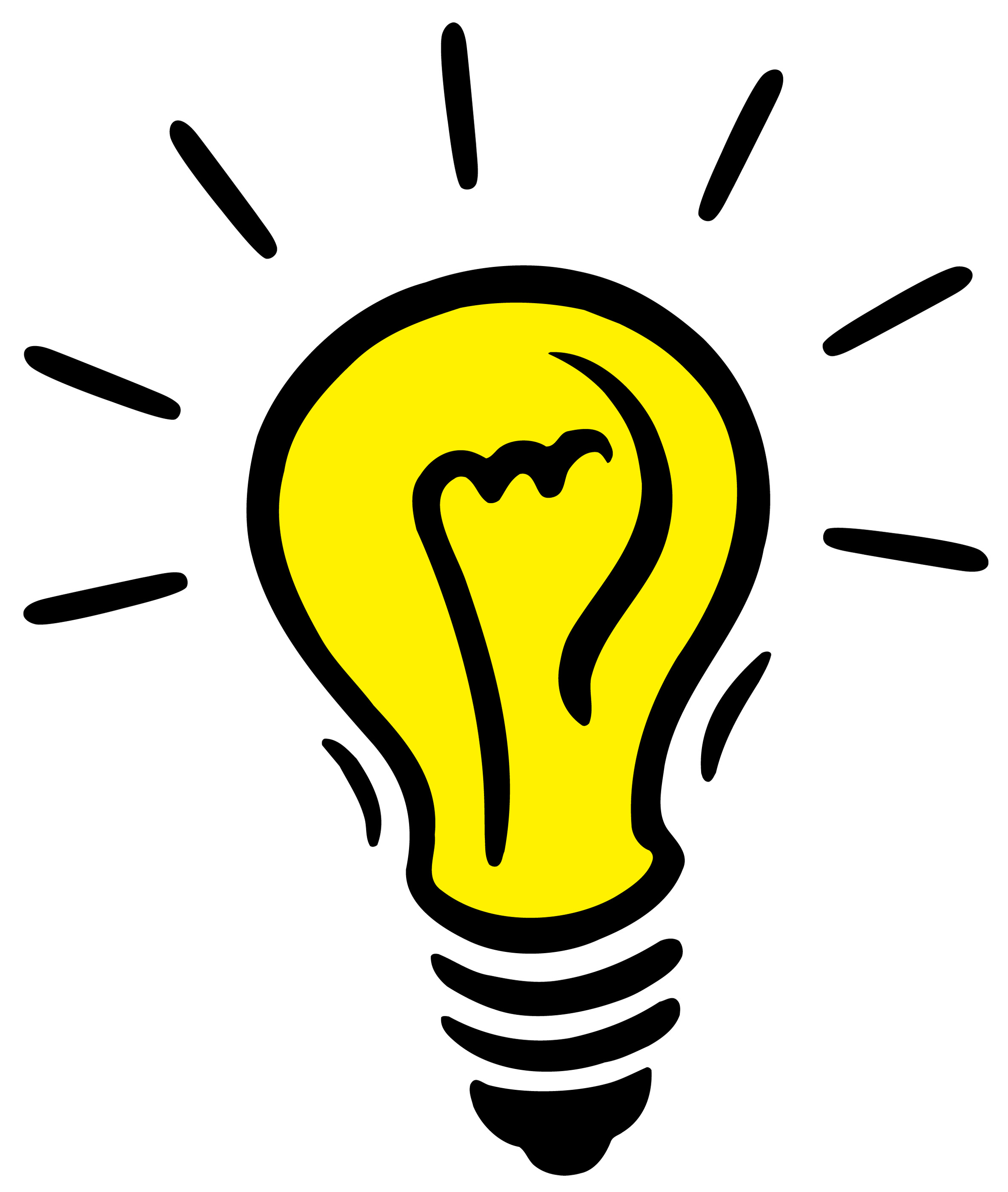 2368x2800 Light Bulb Thinking Clipart