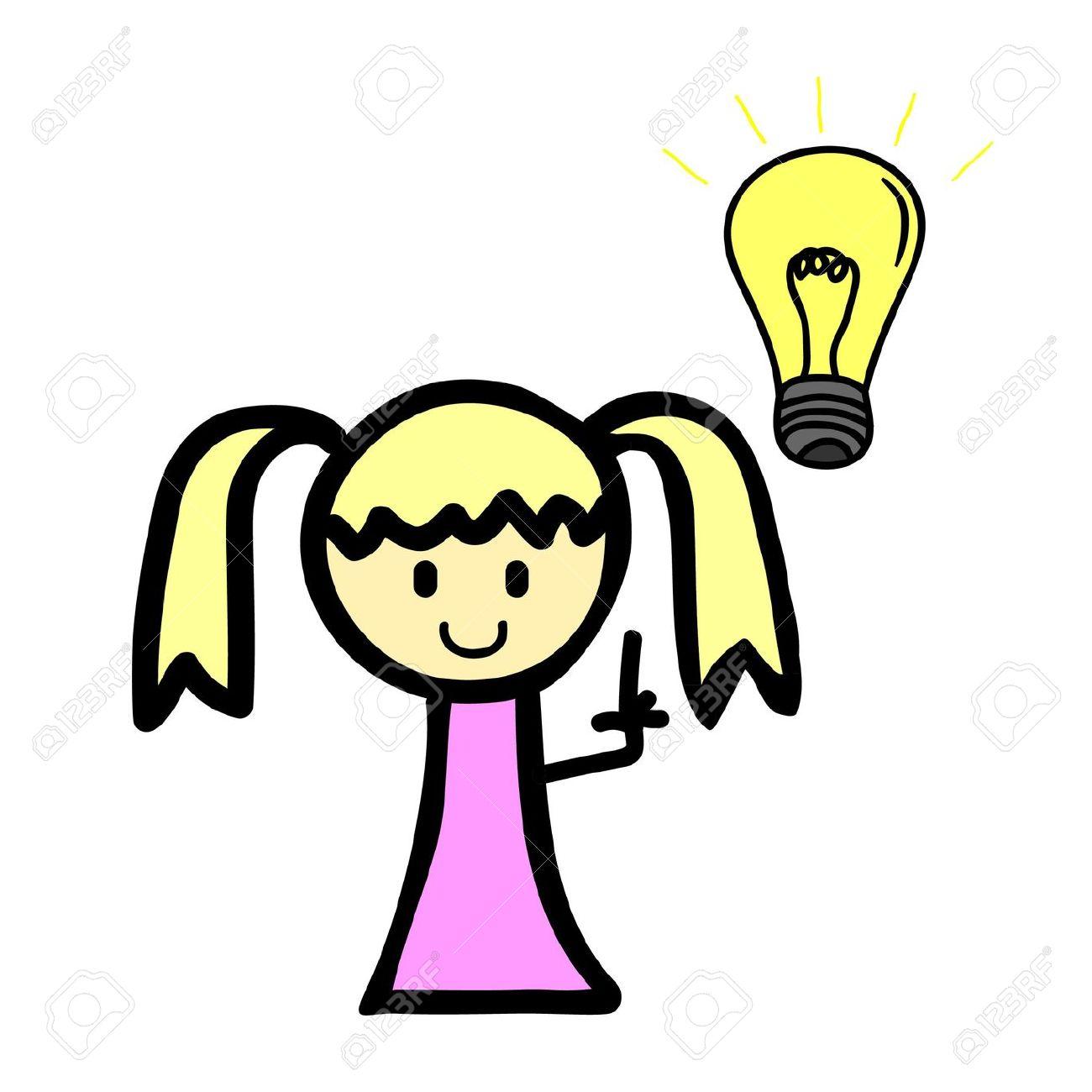 1300x1300 Light Bulb Girl Clipart