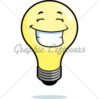 325x325 Cartoon Light Bulb Gl Stock Images