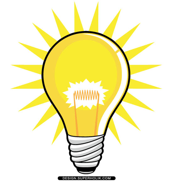 551x580 Lightbulb Shining Light Bulb Clipart