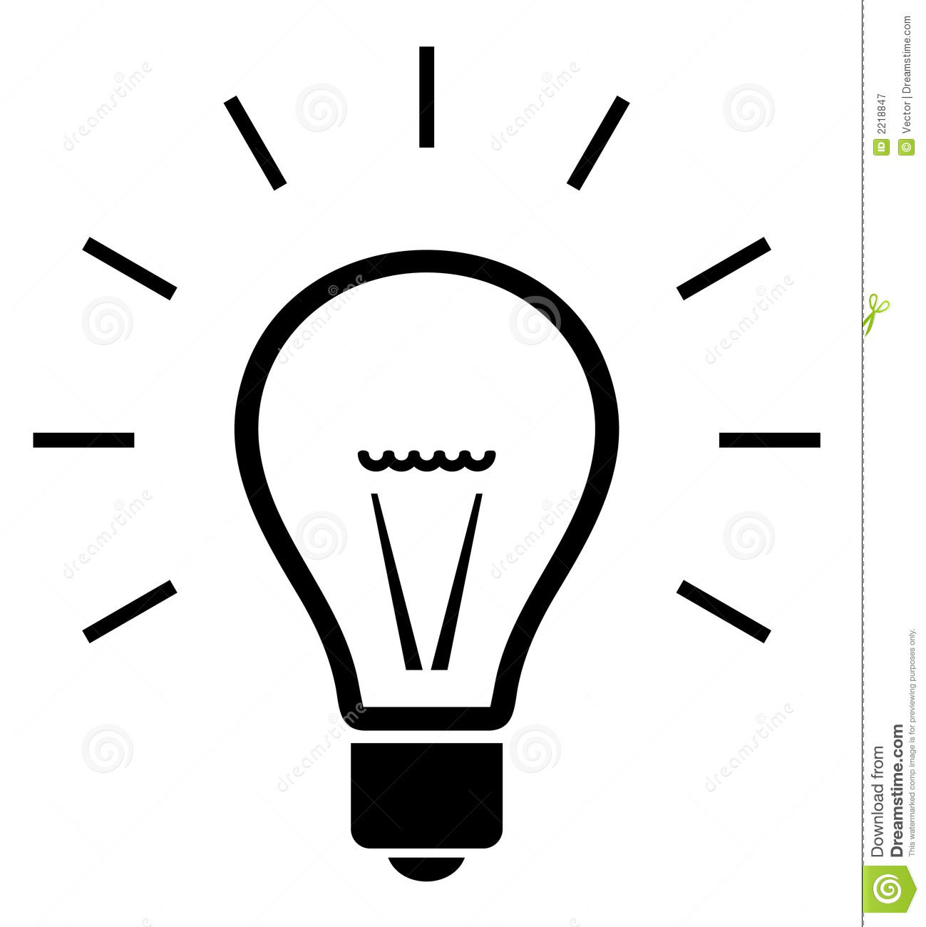 1299x1300 Light Bulb Clipart Black And White